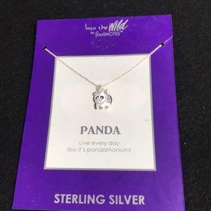 Footnotes panda sterling silver